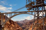 Stock Photo of the highway bridge over the hoover dam