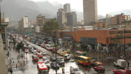 Stock Video Footage of Rainy Afternoon  Rush hour downtown Bogota Colombia 8706