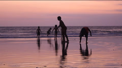 Kids vacation at the Beach, Bali - Indonesia. Stock Footage