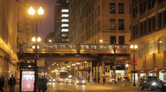 Chicago train Stock Footage