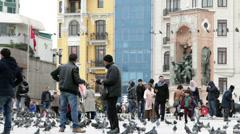 Istanbul Taksim Square Timelapse Stock Footage