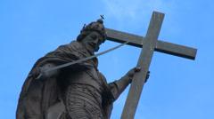 Kolumna Zygmunta/Sigismund's Column - Warsaw symbol Stock Footage