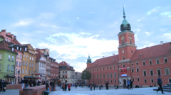 Royal Castle in Warsaw Stock Footage