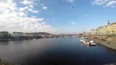 Prag City View Stock Footage