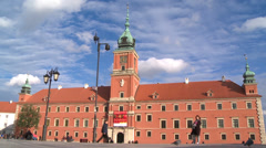 Old Town/Royal Castle in Warsaw Stock Footage
