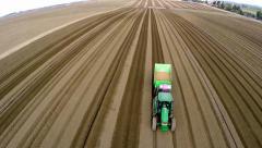 High Flight over Potato field Stock Footage