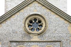 oval stone facade - stock photo