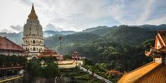 temple in george town, penang, malaysia - stock photo