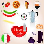 I love Italy - stock illustration