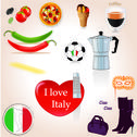 Stock Illustration of I love Italy