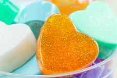 handmade hearts shaped for valentine day - stock photo