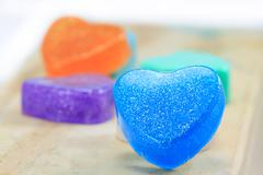Stock Photo of handmade hearts shaped for valentine day