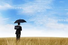 insurance agent outdoor - stock photo
