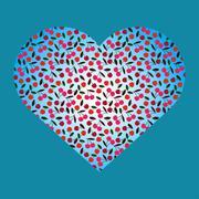 Cherry heart Stock Illustration