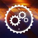 Stock Illustration of Cogwheel Gear Icon on Triangle Background.