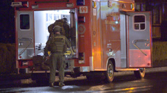 SWAT Preparing To Leave Scene After Shots Were Fire In A Neighborhood Stock Footage