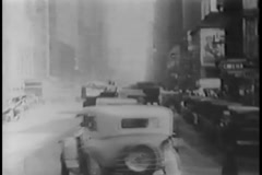 Policemen directing traffic in New York City, 1930s - stock footage