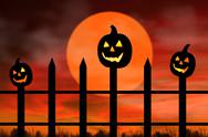 Stock Illustration of scary pumpkins
