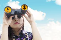 Finance observation Stock Illustration