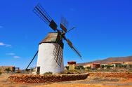 Stock Photo of windmill in antigua, fuerteventura, canary islands, spain