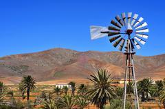 Landscape of antigua, fuerteventura, canary islands, spain Stock Photos