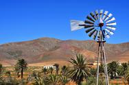 Stock Photo of landscape of antigua, fuerteventura, canary islands, spain