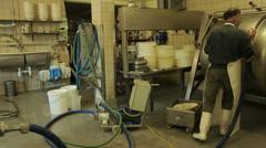 Worker is making Buttermilk Stock Footage
