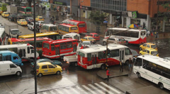 Evening Rush hour Bogota Colombia Stock Footage