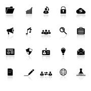 general document icons with reflect on white background - stock illustration