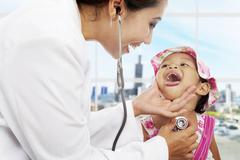 Pediatric patient care Stock Photos
