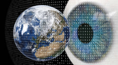 Worldwide digital surveillance. Stock Footage