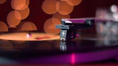 Vintage Record Player with Rack Focus Stock Footage
