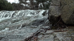 Waterfall Lake - 04 - Rock, Stream, Forest Stock Footage