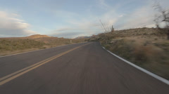 Arizona Back Road Driving - stock footage