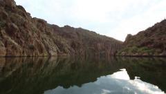 Arizona Lake At Sunset Smooth Waters Stock Footage