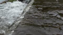 Waterfall Lake - 07 - Close Splashing Stream On Rock Edge Stock Footage