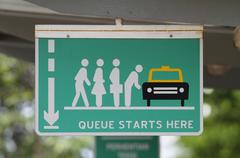queue sign - stock photo