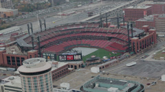 Looking down from the St Louis Arch Stock Footage