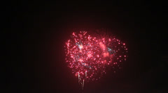 Fireworks-red Stock Footage