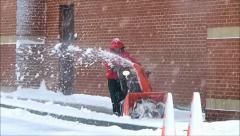 Snowblower slow motion Stock Footage