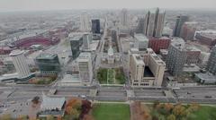 St Louis Skyline 01 Stock Footage