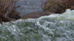 Waterfall Lake - 07 - Close Splashing Stream On Stones Stock Footage