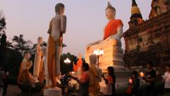 Magha Puja Day is an important day of the Buddhist religion. - stock footage