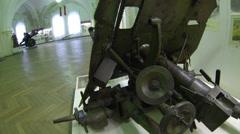 Military artillery gun Stock Footage