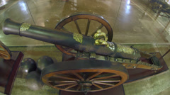 Stock Video Footage of Ancient gun, firing cores
