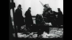 WW2 - Artillery Fire 05 - Rocket Tank Fire Stock Footage
