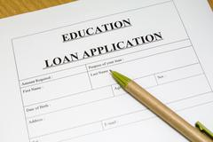 education loan application. - stock photo