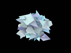 3d abstract blue spiked shape on black - stock footage