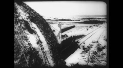 WW2 - German Normandy Atlantic Wall 01 Stock Footage