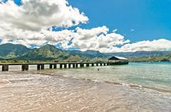 Hanalei Bay, Kauai Island - Hawaii Stock Photos